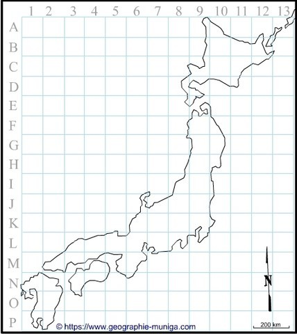 Carte du Japon - Jacques MUNIGA